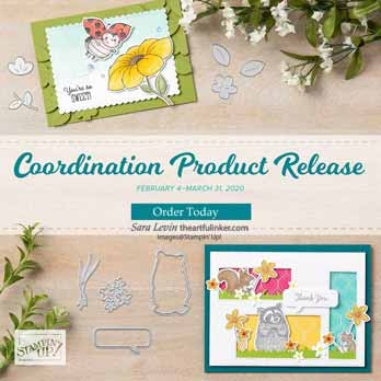 Stampin Up new coordinating products. Shop for Stampin Up with Sara Levin at theartfulinker.com