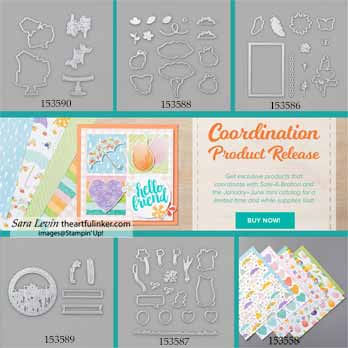 Stampin Up Coordination Product Release. Shop for Stampin Up with Sara Levin at theartfulinker.com