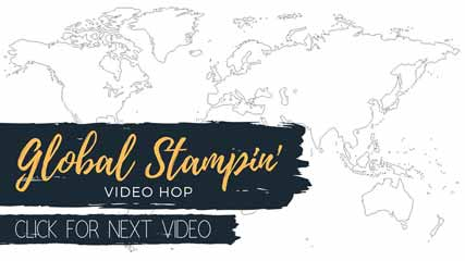 Global Stampin' Video Hop Next. Shop for Stampin Up with Sara Levin at theartfulinker.com