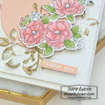 Happy Birthday To You Thank You, sentiment detail. Shop for Stampin Up with Sara Levin at theartfulinker.com
