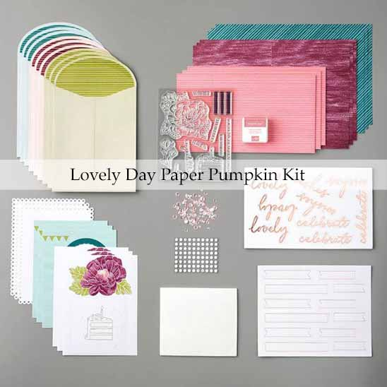 Lovely Day February 2020 Paper Pumpkin Kit. Shop for Stampin Up with Sara Levin at theartfulinker.com