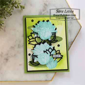 Lovely Lily Pad with Pigment Sprinkles for Creating Kindness Blog Hop Lovely Lily Pad. Shop for Stampin Up with Sara Levin at theartfulinker.com