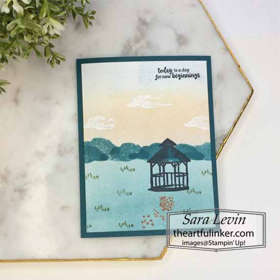 New Beginning My Meadow Card with video. Shop for Stampin Up with Sara Levin at theartfulinker.com