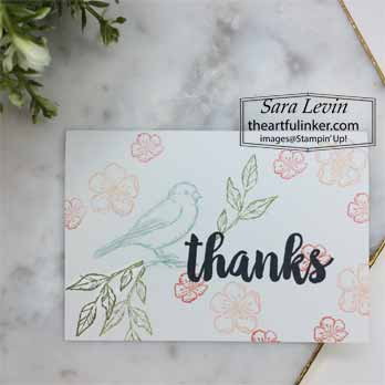 Seriously the Best with Free as a Bird no layer card for Stamping Sunday Blog Hop Seriously the Best