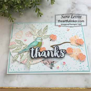 Seriously the Best with Free as a Bird card, angled view, for Stamping Sunday Blog Hop Seriously the Best