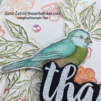 Seriously the Best with Free as a Bird card, bird detail, for Stamping Sunday Blog Hop Seriously the Best