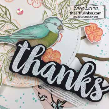 Seriously the Best with Free as a Bird card, sentiment detail, for Stamping Sunday Blog Hop Seriously the Best