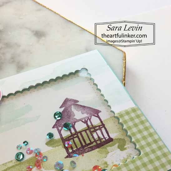 Special Someone My Meadow Shaker Card, die cut detail.  Shop for Stampin Up with Sara Levin at theartfulinker.com