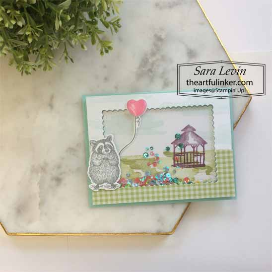 Learn how to make this Special Someone My Meadow Shaker Card.  Shop for Stampin Up with Sara Levin at theartfulinker.com