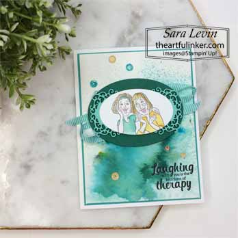 Young at Heart with Softened Blends card. Shop for Stampin Up with Sara Levin at theartfulinker.com