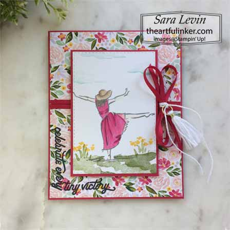 Stampin Up Beatuiful You Around the Corner card. Shop for Stampin Up with Sara Levin at theartfulinker.com