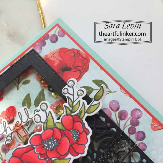 Bloom and Grow Shaker Card for Creating Kindness Blog Hop. Shop for Stampin Up with Sara Levin at theartfulinker.com