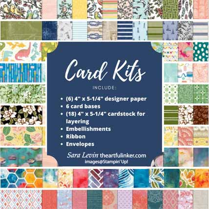 Stampin Up card kits March 2020. Shop for Stampin Up with Sara Levin at theartfulinker.com