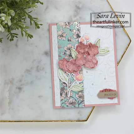 Forever Blossoms Kwanzan Cherry card with video. Shop for Stampin Up with Sara Levin at theartfulinker.com