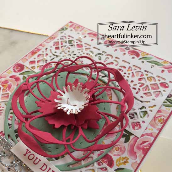 Stampin Up Best Dressed and Poppy Moments Card, poppy detail. Shop for Stampin Up with Sara Levin at theartfulinker.com
