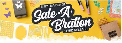 Sale a Bration third release header. Shop for Stampin Up with Sara Levin at theartfulinker.com
