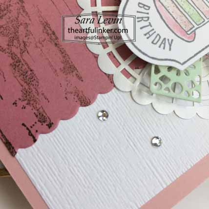 Time for Tags TSCC103 birthday card, Subtle embossing detail. Shop for Stampin Up with Sara Levin at theartfulinker.com
