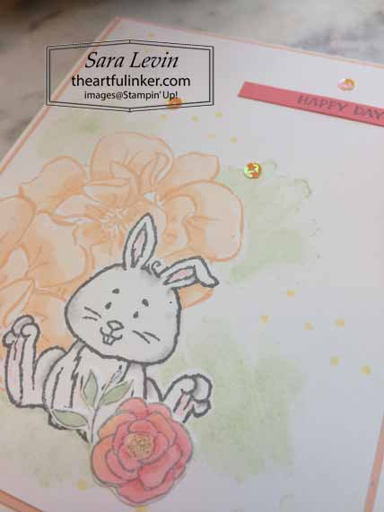 Welcome Easter To A Wild Rose card, detail. Shop for Stampin Up with Sara Levin at theartfulinker.com