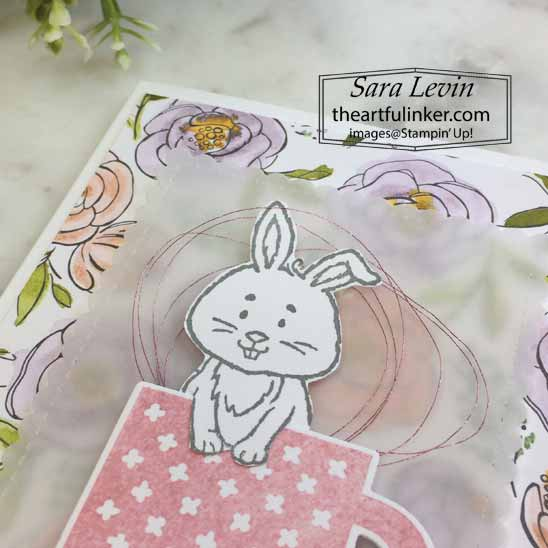 Welcome Easter with Rise and Shine, detail. Shop for Stampin Up with Sara Levin at theartfulinker.com