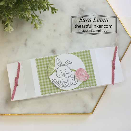 Welcome Easter with Timeless Tulips spring Easter favor for OSAT Blog Hop Chick Ewe Out. Shop for Stampin Up with Sara Levin at theartfulinker.com
