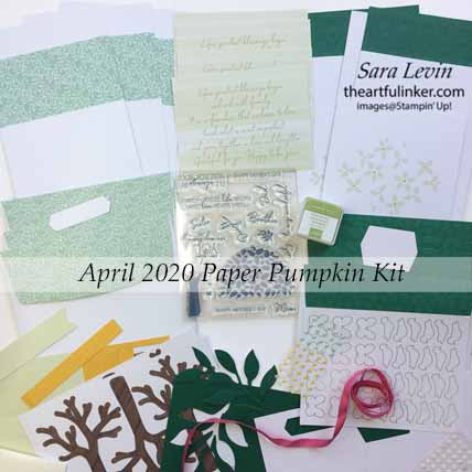 Stampin Up My Wonderful Family April 2020 Paper Pumpkin Kit Contents. Shop for Stampin Up with Sara Levin at theartfulinker.com