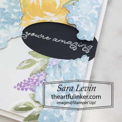 Stampin Up Beautiful Friendship Ornate Thanks card, detail. Shop for Stampin Up with Sara Levin at theartfulinker.com