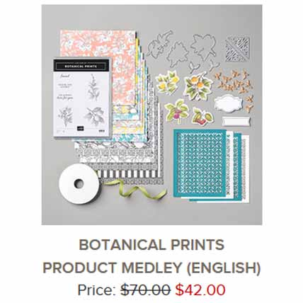Stampin Up Botanical Prints Medley new all inclusive class. Shop for Stampin Up with Sara Levin at theartfulinker.com