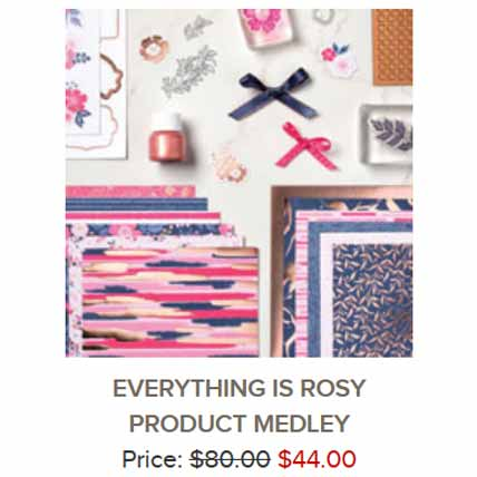 Stampin Up Everything is Rosy Medley new all inclusive class. Shop for Stampin Up with Sara Levin at theartfulinker.com