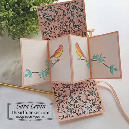 Stampin Up Free As a Bird Butterfly Wishes Twist and Pop Card, inside, with video for What's on the Inside that Counts Blog Hop. Shop for Stampin Up with Sara Levin at theartfulinker.com