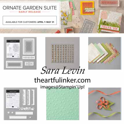 Stampin Up Ornate Garden Suite. Shop for Stampin Up with Sara Levin at theartfulinker.com
