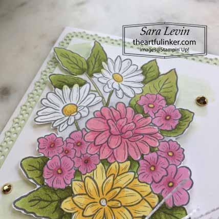 Stampin Up Ornate Style Graduation Card, floral detail, for OSAT Blog Hop Celebrate. Shop for Stampin Up with Sara Levin at theartfulinker.com