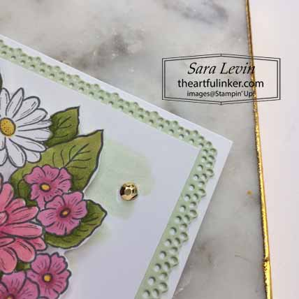 Stampin Up Ornate Style Graduation Card, watercolor background and Ornate Layers dies detail, for OSAT Blog Hop Celebrate. Shop for Stampin Up with Sara Levin at theartfulinker.com
