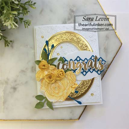 Stampin Up Seriously the Best Christmas Rose graduation card. Shop for Stampin Up with Sara Levin at theartfulinker.com