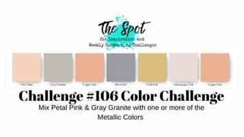 The Spot Creative Challenge 106 Color Challenge. Shop for Stampin Up with Sara Levin at theartfulinker.com
