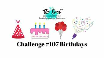 The Spot Creative Challenge 107 Birthdays. Shop for Stampin Up with Sara Levin at theartfulinker.com