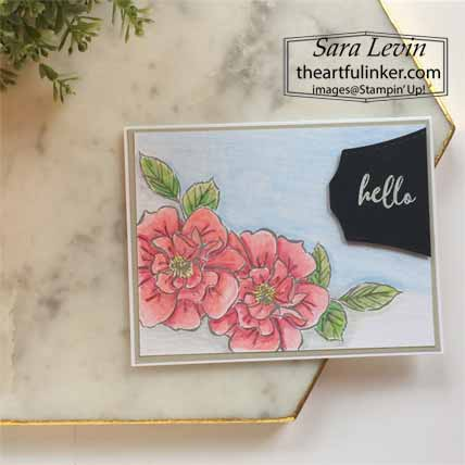 Stampin Up Watercolor To A Wild Rose Card. Shop for Stampin Up with Sara levin at theartfulinker.com