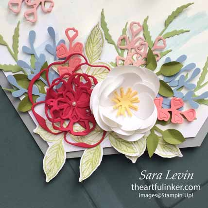 Welcome Hope Door Banner using Magnolia Memory and Wild Rose dies for Home Decor SU Style Blog Hop April 2020. Shop for Stampin Up with Sara Levin at theartfulinker.com