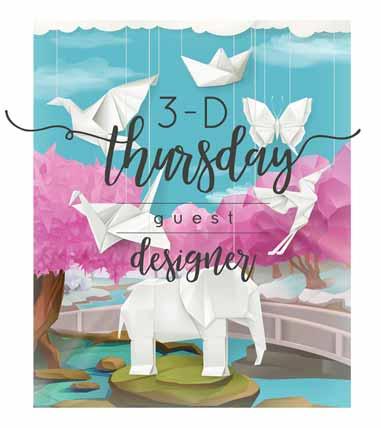 Stampin Up 3D Thursday Guest Designer. Shop for Stampin Up with Sara Levin at theartfulinker.com