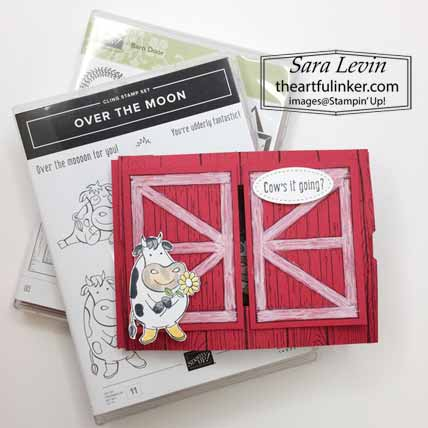 Stampin Up Barn Door Over The Moon Theater Fold card. Shop for Stampin Up with Sara Levin at theartfulinker.com