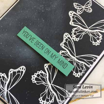 Stampin Up Butterfly Gala Masculine Card detail Shop for Stampin Up with Sara Levin at theartfulinker.com