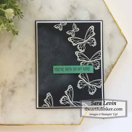 Stampin Up Butterfly Gala Masculine Card Shop for Stampin Up with Sara Levin at theartfulinker.com