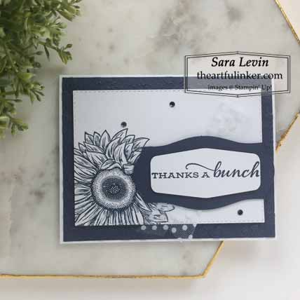 Stampin Up Celebrate Sunflowers in Night of Navy for Stamping Sunday Blog Hop Preview 2020 Annual Catalog. Shop for Stampin Up with Sara Levin at theartfulinker.com