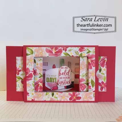 Stampin Up Dressed to Impress Theater Fold birthday card, open. Shop for Stampin Up with Sara Levin at theartfulinker.com