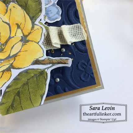 Good Morning Magnolia in Daffodil Delight texture detail Shop for Stampin Up with Sara Levin theartfulinker.com