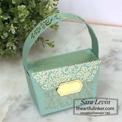 Stampin Up Ornate Style All Dressed Up Mini Purse for 3D Thursday. Shop for Stampin Up with Sara Levin at theartfulinker.com