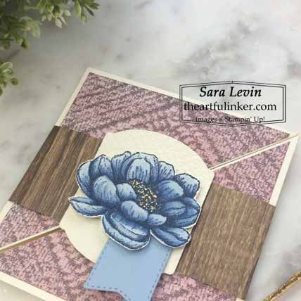 Tasteful Touches Twisted Square Card, flower detail Shop for Stampin Up with Sara Levin at theartfulinker.com