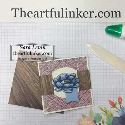 Tasteful Touches Twisted Square Card with envelope, Shop for Stampin Up with Sara Levin at theartfulinker.com