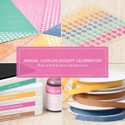 Stampin Up Annual Catalog is Live Bonus Host Rewards in June Shop for Stampin Up with Sara Levin at theartfulinker.com