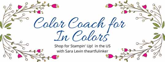 Stampin Up Color Coach for In Colors 2020 Shop for Stampin Up with Sara Levin at theartfulinker.com