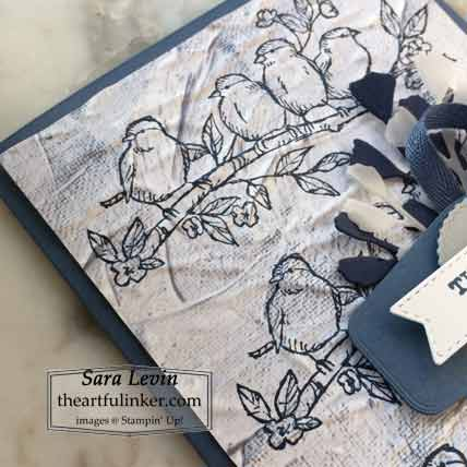 Stampin Up Free As a Bird masculine card, In Good Taste designer paper detail, for Creation Station Blog Hop A Man After My Own Heart Shop for Stampin Up with Sara Levin at theartfulinker.com